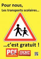 Pour nous, les transports scolaire, c'est GRATUIT !