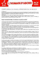 [CR - 27/05/2019] Conseil départemental