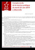 [Compte Rendu] Reunion publique de la section Arlysère (25/06/19)