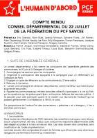 [CR - 22/07/2019] Conseil départemental