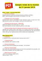 [La Bridoire] Compte-rendu réunion de section 31/01/15