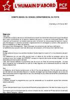 [CR - 17/02/21] Conseil Départemental