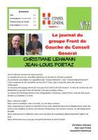 Le journal du FDG du conseil général - Fevrier 2015 - n°11