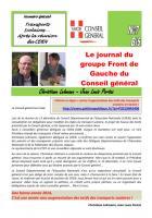 Le journal du FdG du conseil général - Janvier 2O14