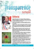 Transparence n°12 - Avril 2O13