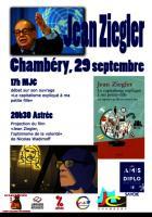 Venue de Jean Ziegler à Chambéry