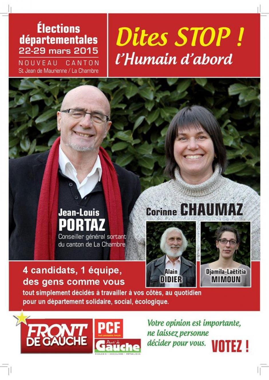 Vos candidat-e-s du canton de St Jean de Mne