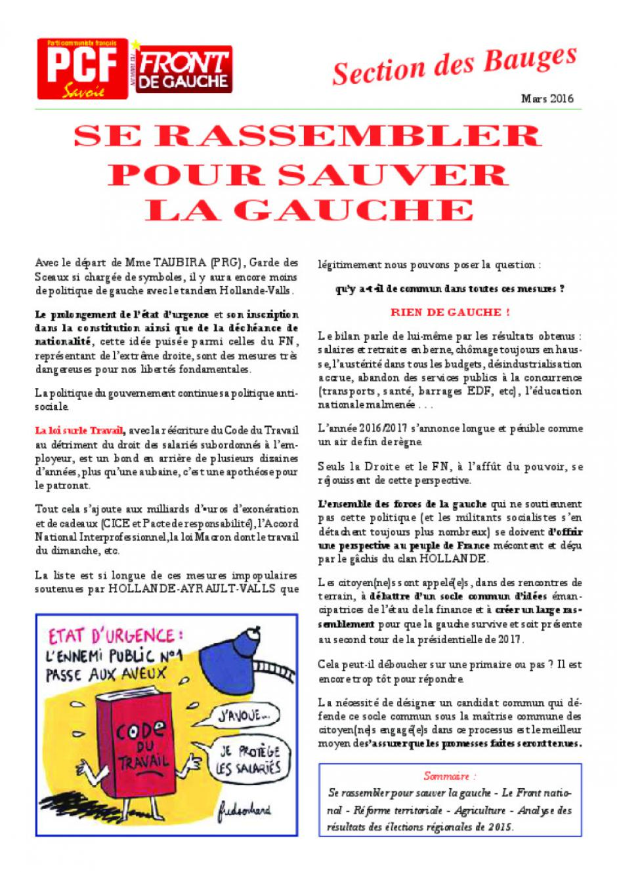 Bulletin des Bauges - Mars 2016