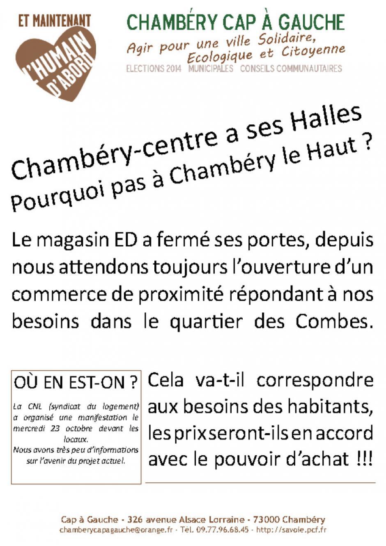 Des Halles à Chambéry le Haut !