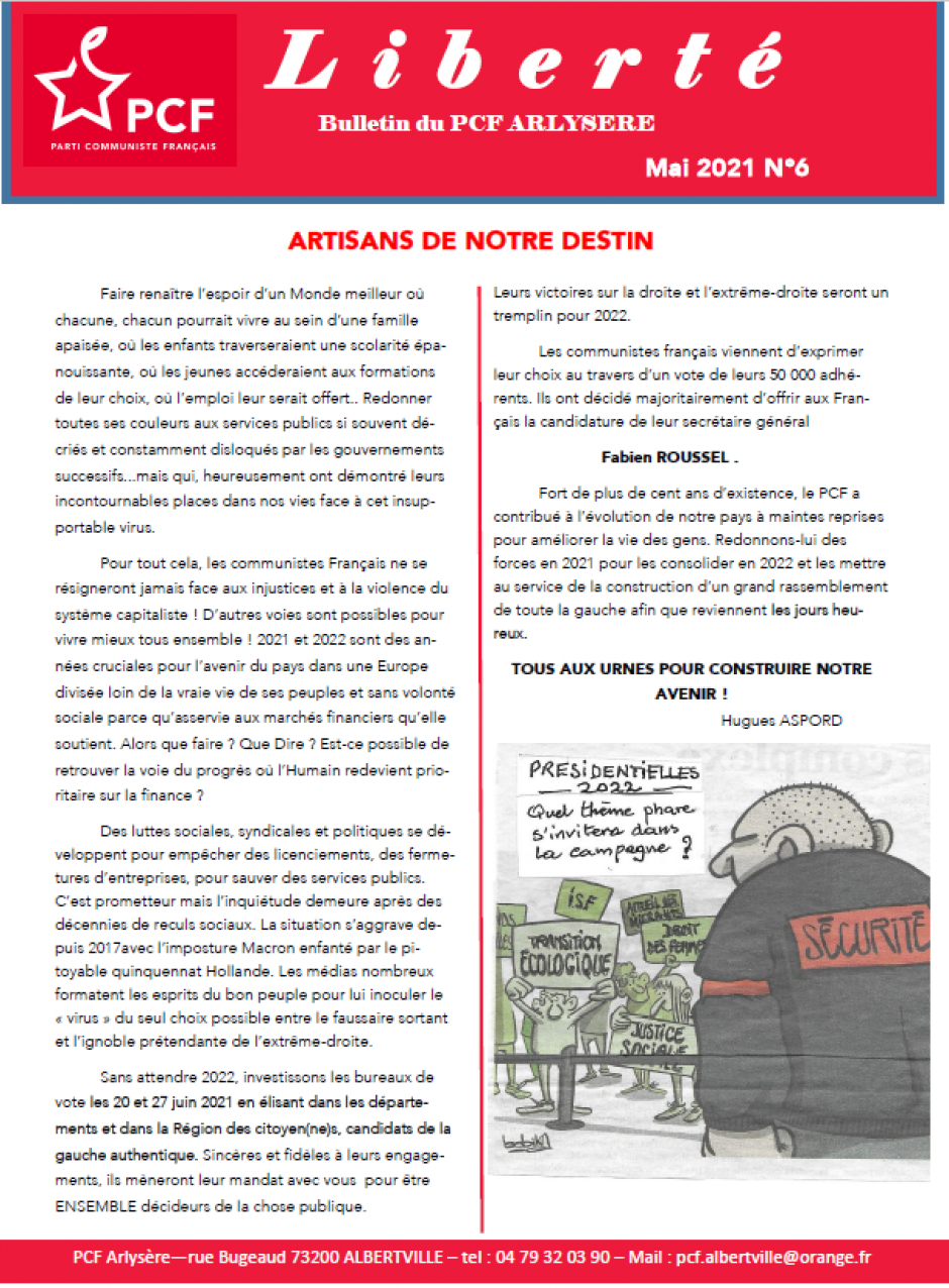 L'alternatif - Bulletin de la section de la Bridoire