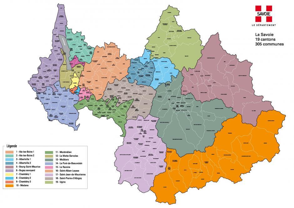 Une nouvelle carte pour la Savoie