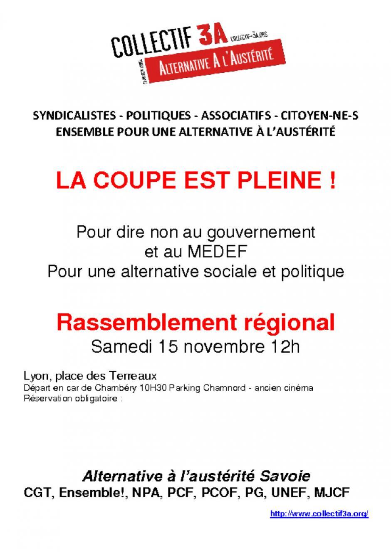 Manif 3A à Lyon