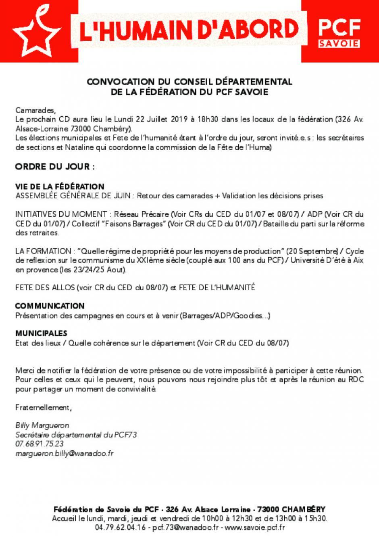 Conseil départemental [Juillet 2019]