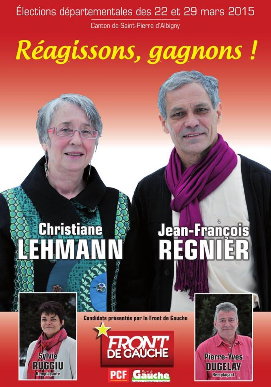 Vos candidat-e-s du canton de St Pierre d'Albigny