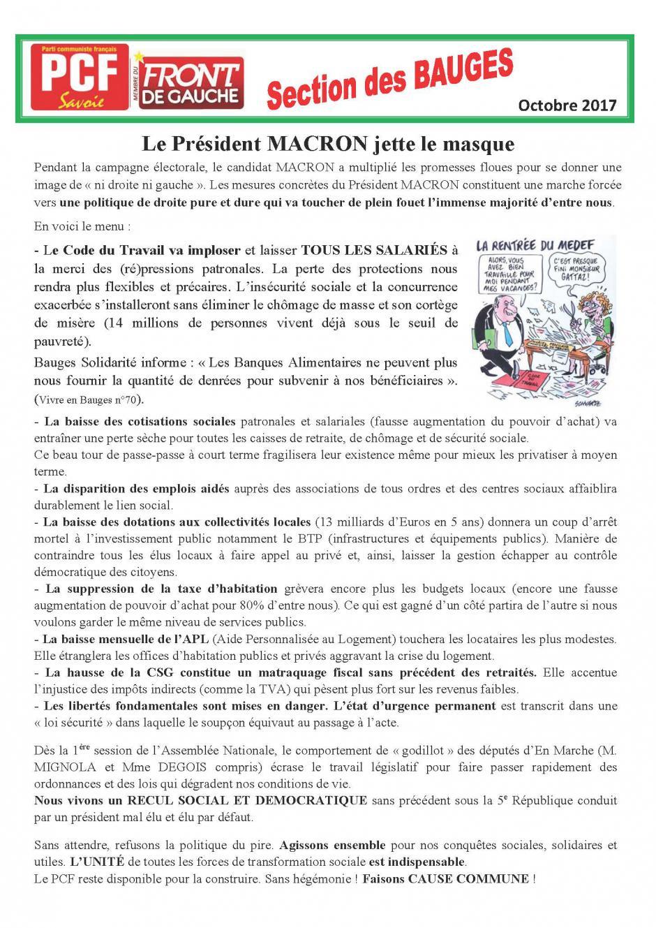 Bulletin des Bauges - Octobre 2017