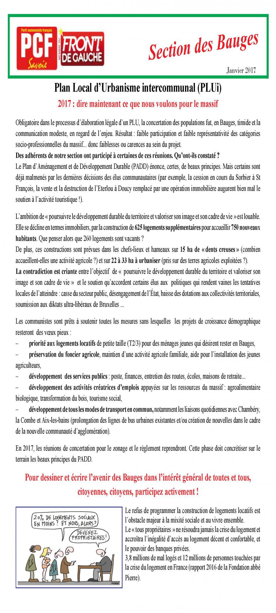 Bulletin des Bauges - Janvier 2017