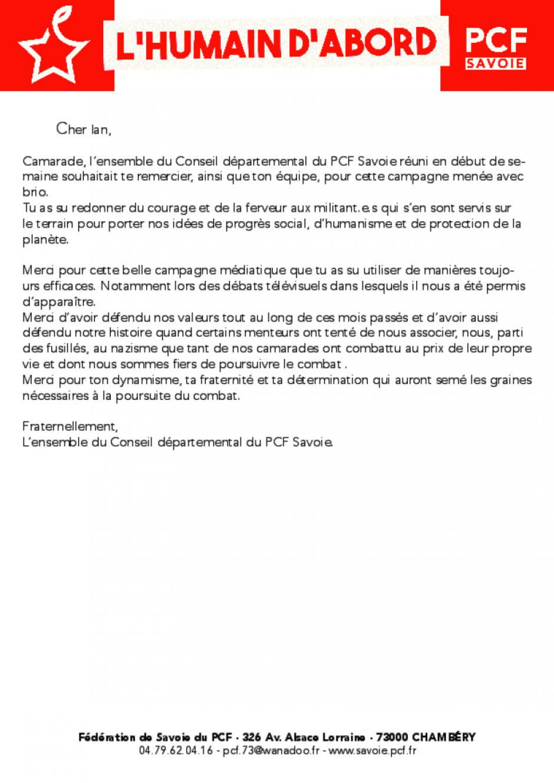 Message pour Ian Brossat