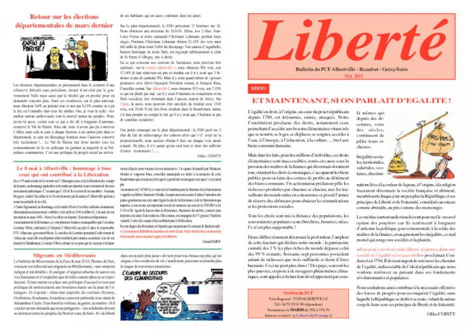 Liberté - Mai 2015