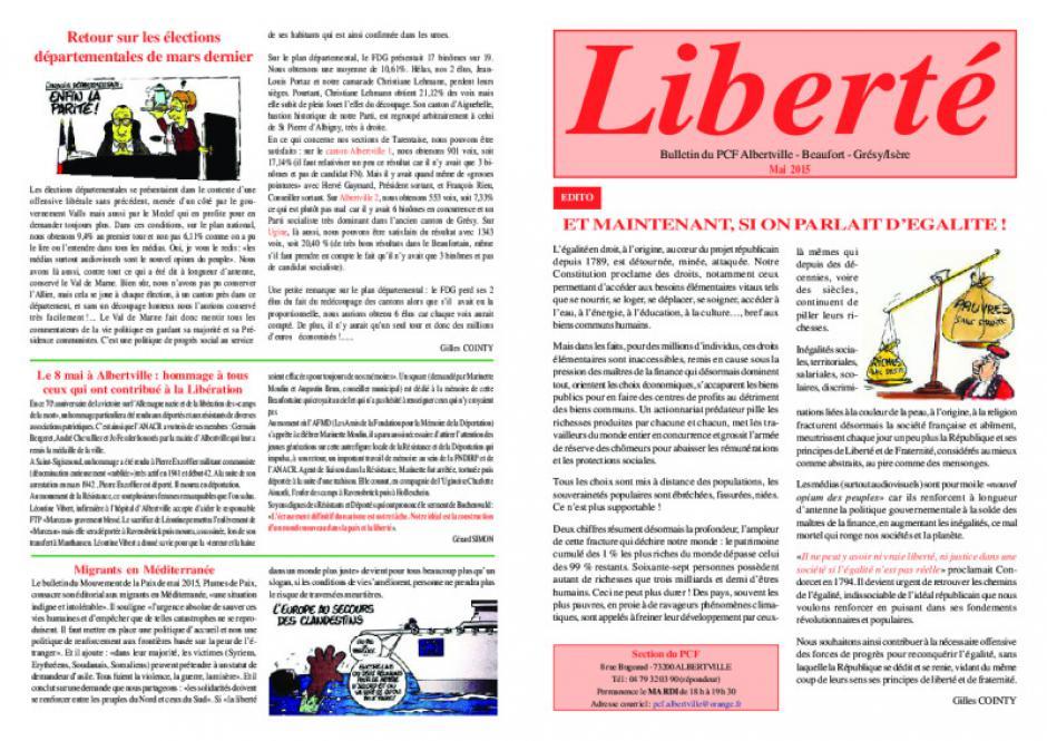 Liberté - Mai 2O15
