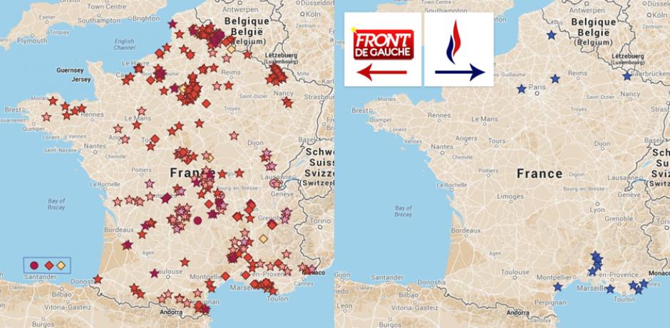 2nd tour des élections municipales 2014 (Carte interactive)