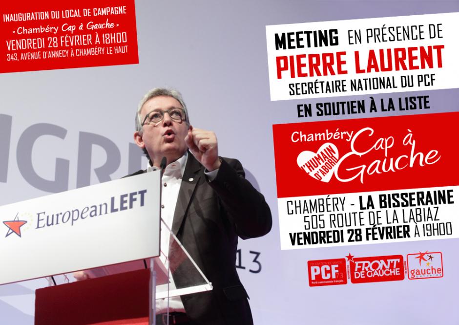 Meeting en présence de Pierre Laurent - Chambéry