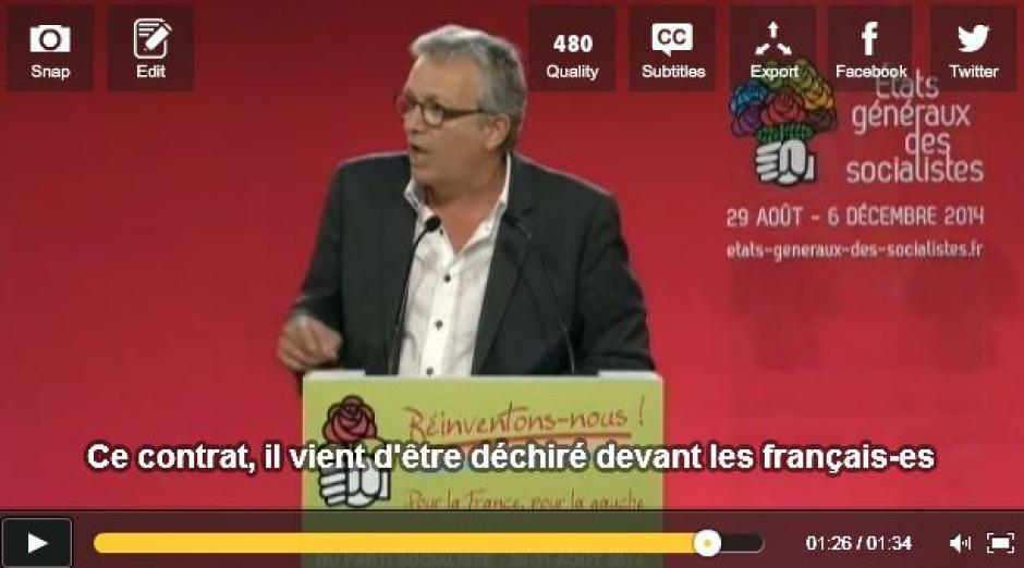 [VIDEOS] Discours offensif de Pierre Laurent aux universités d'été du PS - Université d'été