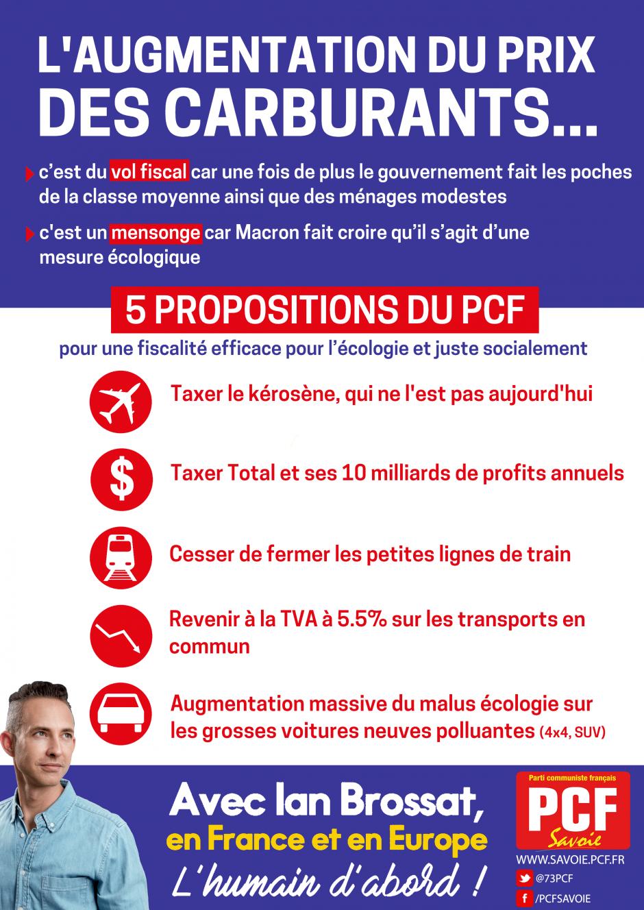 [Tract] Augmentation du prix de l'essence, 5 propositions du PCF
