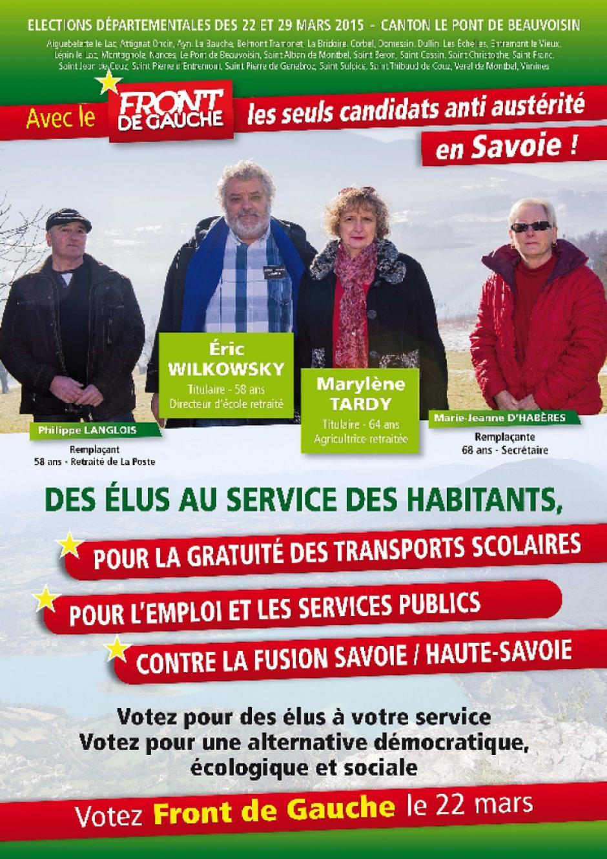 Vos candidat-e-s pour le canton Le Pont Beauvoisin