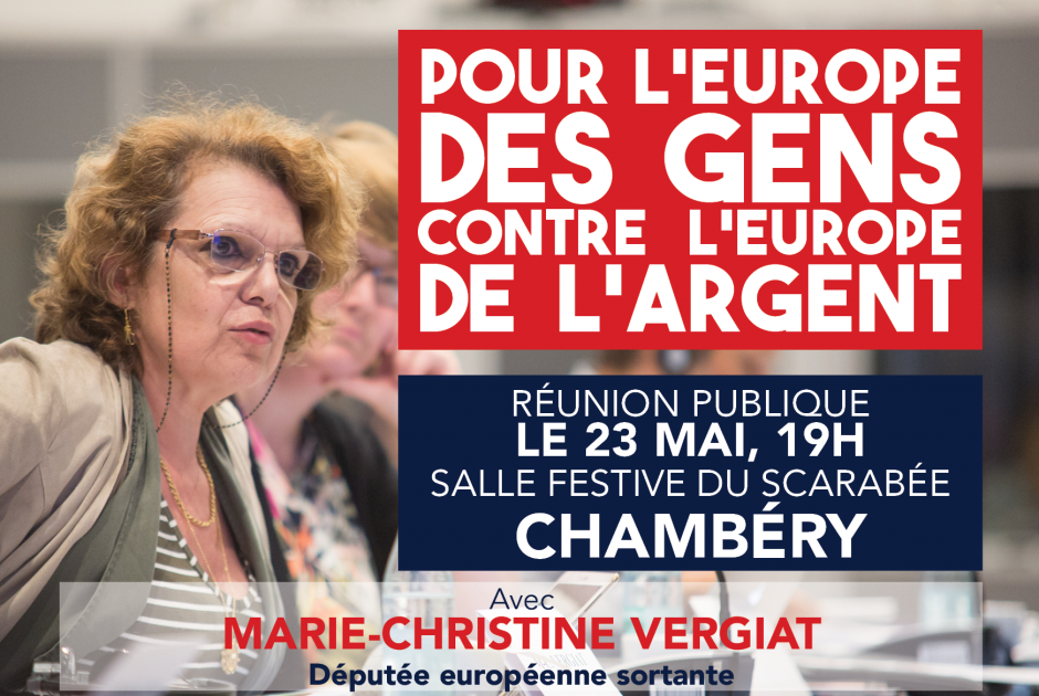 Réunion publique avec Marie-Christine Vergiat