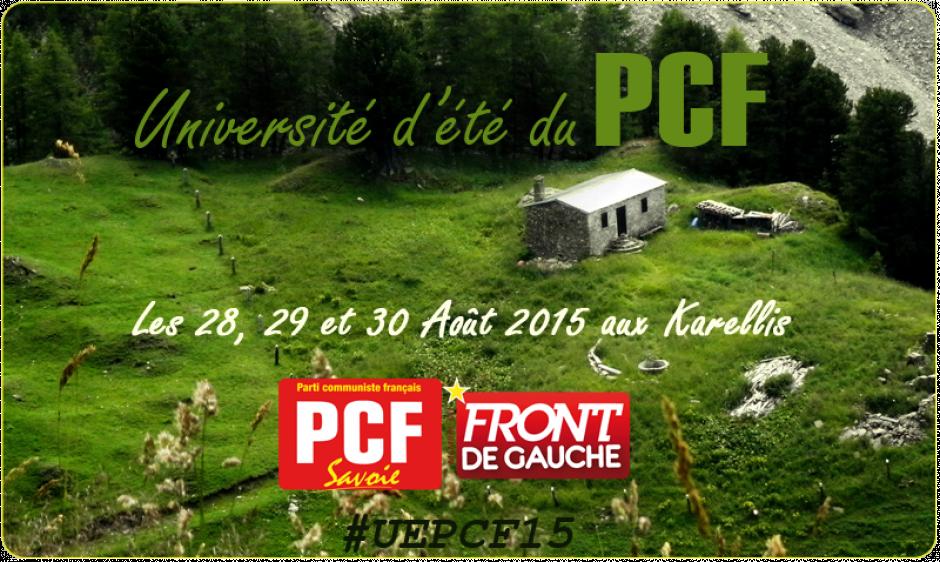 Université d'été 2015. #UEPCF15