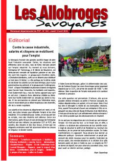 Les Allobroges - N°941 - 12 Avril 2O16