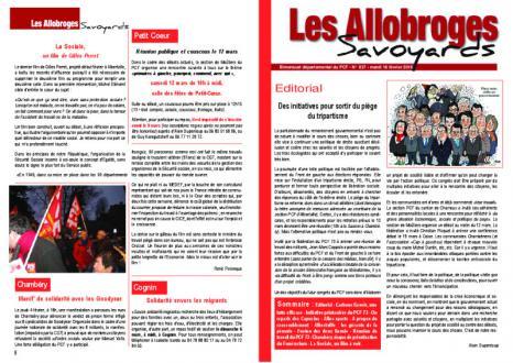 Les Allobroges - N°937 - 16 Février 2O16