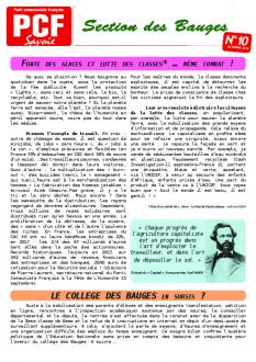 Bulletin des Bauges - Octobre 2018