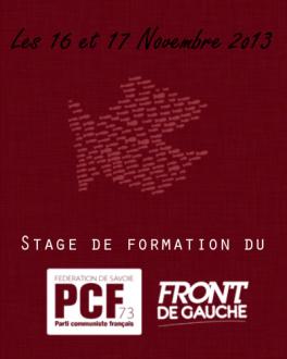 Stage de formation du PCF - Novembre