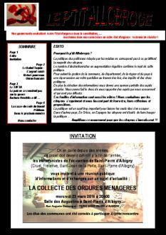 Le P'tit Allobroge - N°1 - Mars 2016